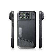 Aerb Phone lens kit 6 in 1 Wide angle Macro Fisheye Mobile Phone Zoom Lensese Smartphone Camera Lens For smartphone Microscope