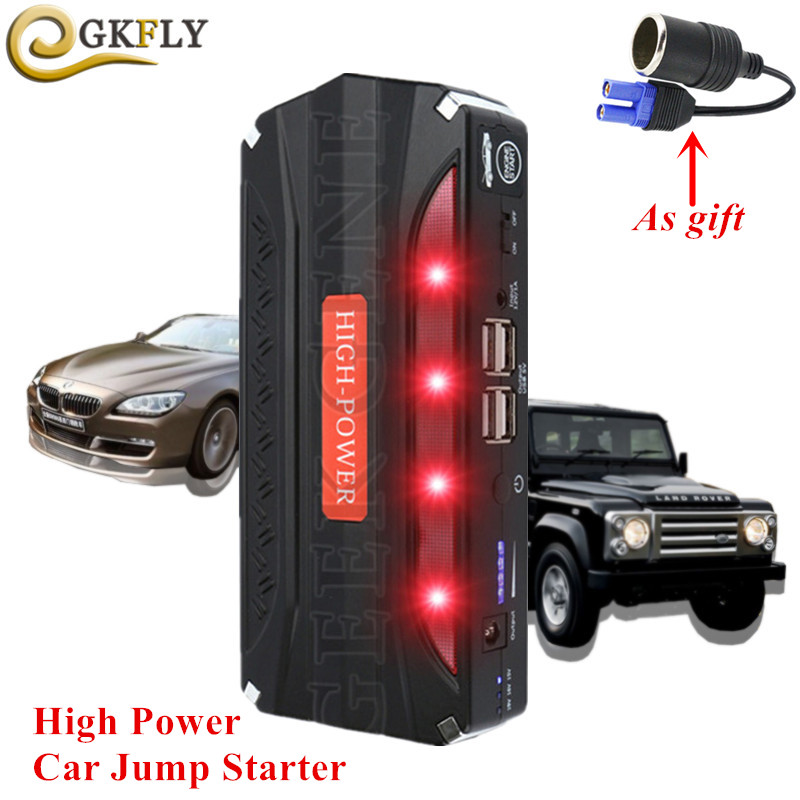 High Power Starting Device 12V 600A Portable Car Starter Power Auto Petrol Diesel Car Charger For Car Battery Booster LED