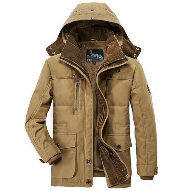 New Minus 40 Degrees Winter Jacket Men Thicken Warm Cotton-Padded Jackets Men's Hooded Windbreaker Parka Plus Size 5XL 6XL Coats Others Men's Fashion