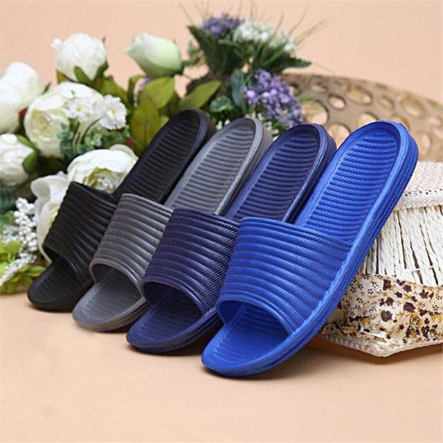 Homem barato Sapatos Chinelos de Banho Sandálias de Verão Plana Chinelos Indoor & Outdoor Sapatos Casuais zapatillas hombre erkek ayakkabi