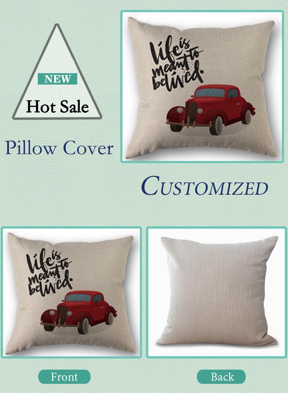 Custom Pillow Cover michael jackson Home textile Square 45X45cm Decorative Cotton Linen Pillowcase