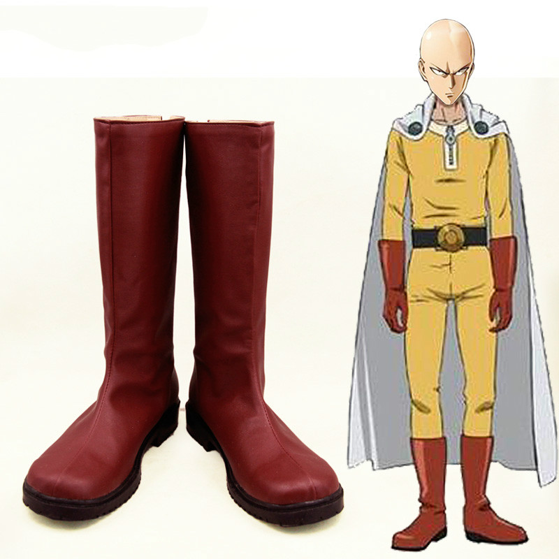 ONE PUNCH MAN Saitama Cosplay Costumes Shoes Boots Unisex Custom made Free Shipping