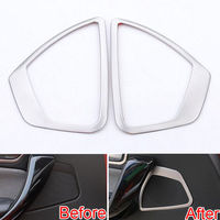 BBQ@FUKA New Car Accessories 2 PCS Front Door Speaker Sound Trim Ring Cover For BMW 1 Series F20 116i 118i 2013 2014