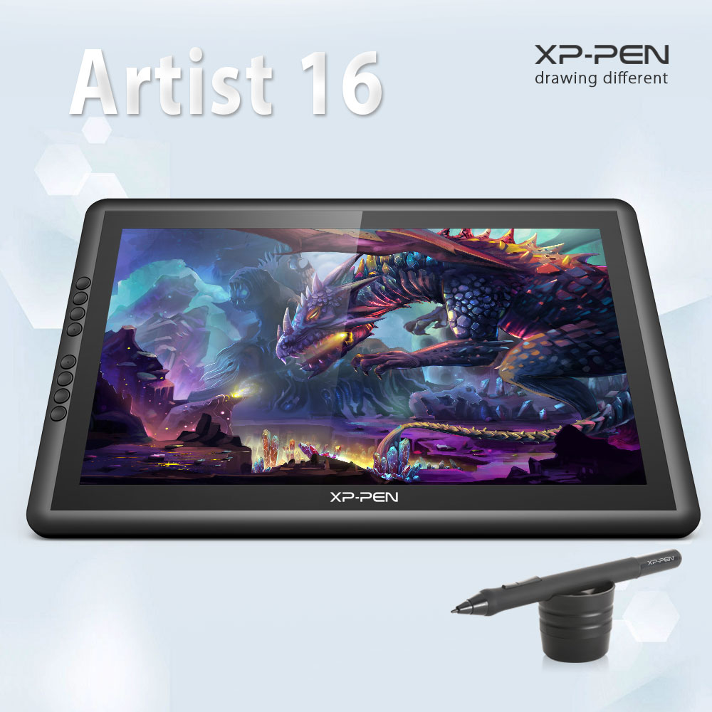 XP-Pen Artist16 15.6 Inch IPS Drawing Monitor Pen Display Drawing Tablet with Shortcut Keys ugee ug2150 21 5 inch graphic drawing monitor stylus pen display graphic tablet with screen ips panel for macbook imac windows