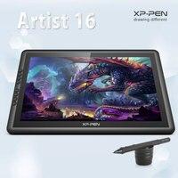 Xp-pen artist16 15.6 인치 ips 드로잉 모니터 펜 디스플레이 단축키 키 그리기 태블릿