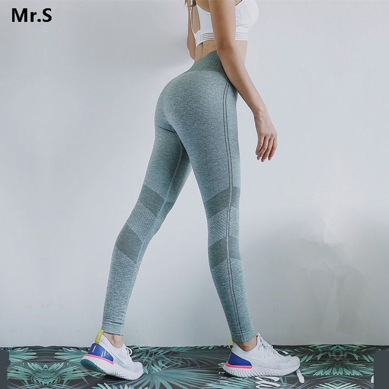 High Waist Energy Seamless Leggings Tummy Control Yoga Pants For Women Scrunch Butt Gym Fitness Leggings Push Up Athletic Tights