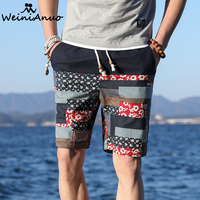 WEINIANUO 2018 Summer Hot Man S Casual Beach Shorts Men Fashion Short Chinses Ethnic Origin Short