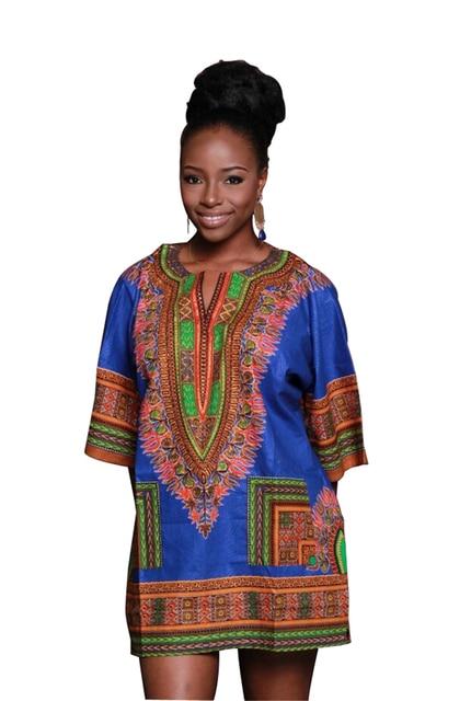 4ce36090e176 Traditional African Clothing for Women Shirt Dress Mens Bazin Riche Orange  Dashiki Tops Plus Size Summer Print Blouse