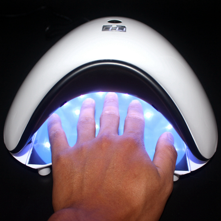 48W Dual UV LED Nail Lamp Nail Dryer Gel Polish Curing Light With Bottom Timer LCD Display Smart Sensor Nail Tools Lamp common rail injector diesel collector for bo sch common rail test bench part 1pcs