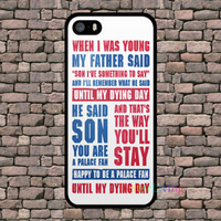 CRYSTAL PALACE CHANT SONG Cell Phone Case Cover For Samsung Galaxy S3 S4 S5 S6 S6