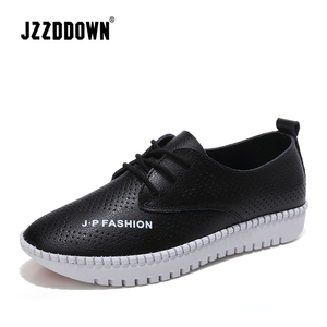 Image 2 - Genuine Leather Women casual sneakers shoes ladies flats canvas shoe female moccasins loafers shoes Wedding footwear
