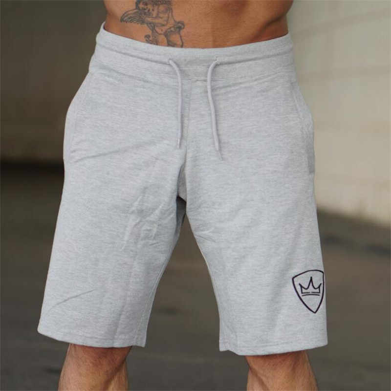 Мужские 2018 летние новые хлопковые шорты свободного кроя, мужские спортивные штаны для фитнеса до колен, спортивные штаны, мужские спортивные брендовые короткие штаны