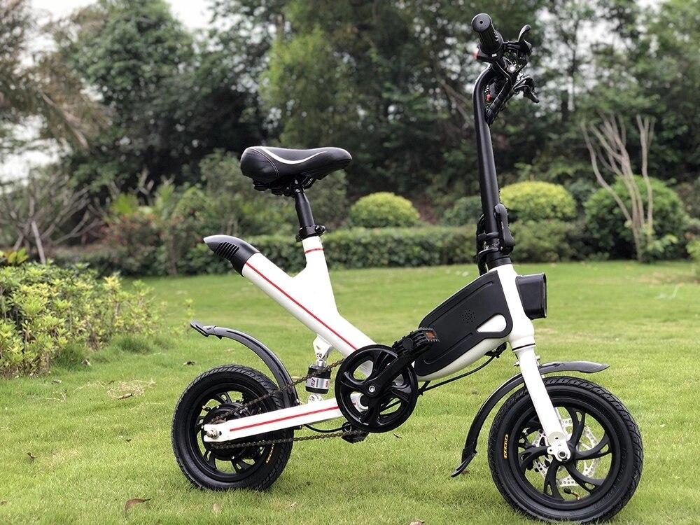 EntrüCkung Electro Fahrrad Klapp 12 Zoll Mit Hinten Suspension GroßEr Ausverkauf Roller
