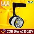 30W LED Track Light  COB Rail Light Spotlight Lamp Replace 300W Halogen Lamp 110v 120v 220v 230v 240v Warm/Cold White AC85-265V