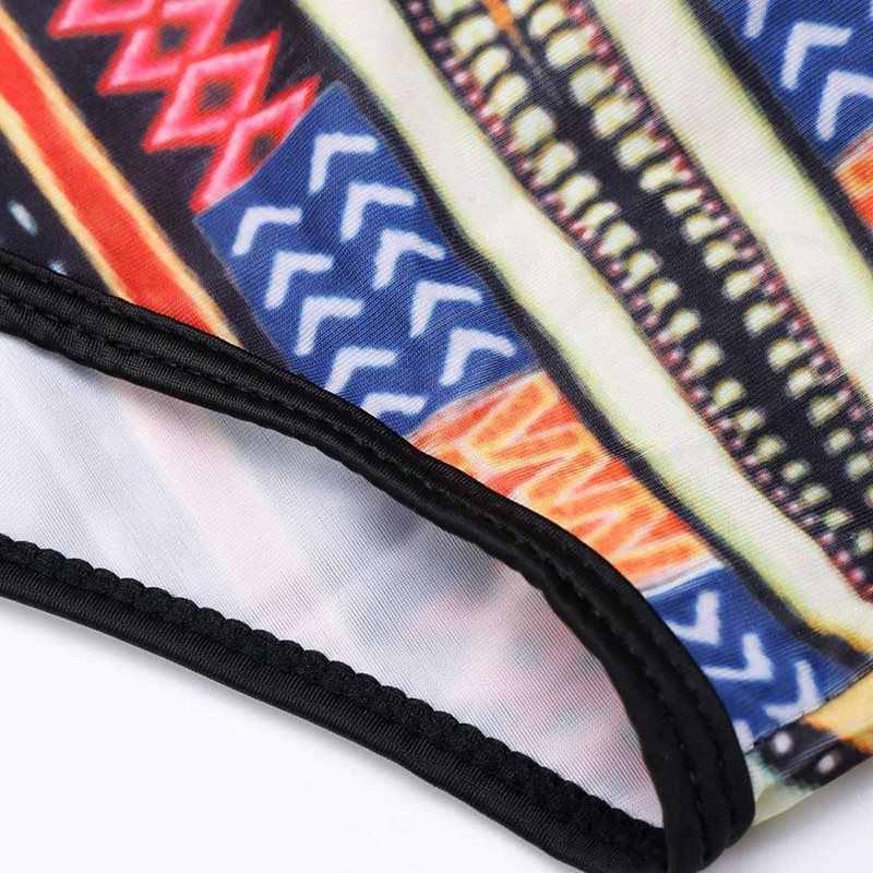Летний Пляжный сексуальный боди Женский цветной принт Африканский этнический стиль полый комбинезон с длинным рукавом Повседневный модный обтягивающий боди