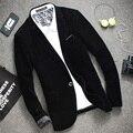 Mens Blue Black Burgundy Velvet Blazers 2016 New Spring Autumn Casual Slim Fit Tuxedo Jacket Korean Suits For Men Office Clothes