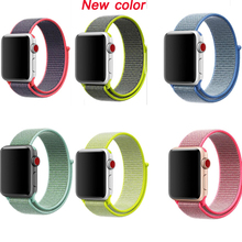 лучшая цена newest Woven sport loop Band for Apple Watch nylon band strap Sport 38mm 40mm 42mm 44mm for iwatch band Series 4/3/2/1