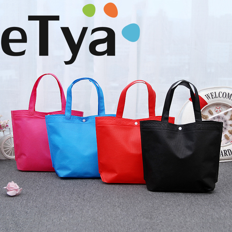 ETya Large Capacity Women Shopping Bags Durable Travel Storage Canvas Shoulder Bag Reusable Portable Handbags Multi-functional