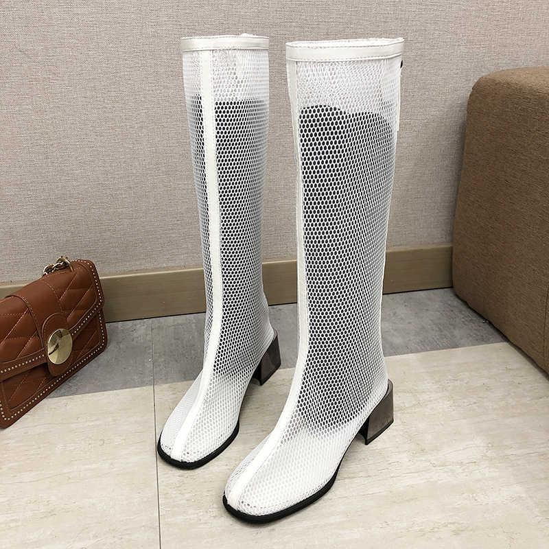 Сетчатые сапоги с открытым поясом; Летние римские сапоги для детей; высокие сапоги; легкие туфли; женские сандалии