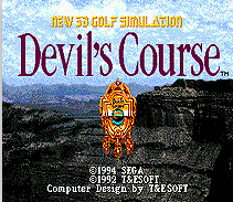New 3D Golf Simulation Devils Course 16 bit MD Game Card For Sega Mega Drive For SEGA Genesis