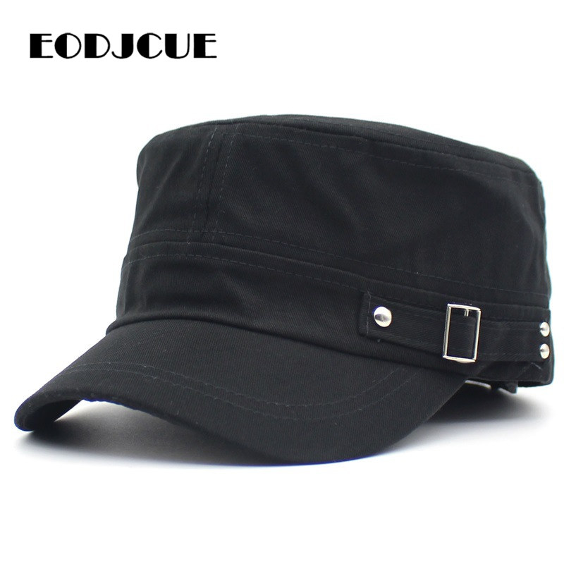 2019 NEW Fashion Mens Hat Women Men Vintage Military Hat Snapback Casual Caps Ooutdoor Sun Hat Flat Flat Top Hat Bone