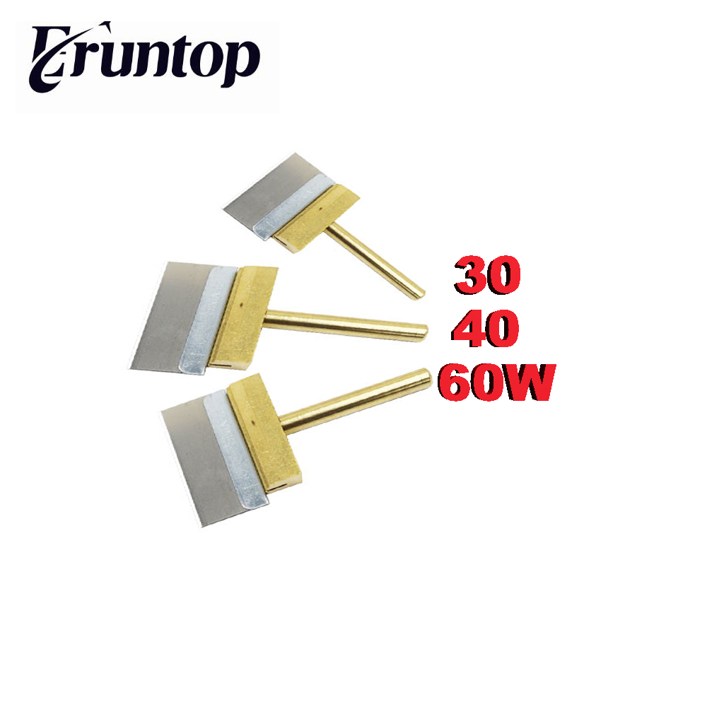 1PCS 30W 40W 60W Copper Soldering Iron Tip With Blade  For LCD Screen Local Glue Removing