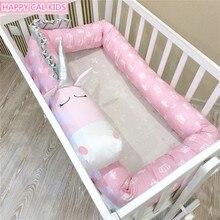 Ins Розовый Единорог кроватка бампер безопасный анти-Краш кровать барьер кроватка кровать защитная подушка подушки детские подушки