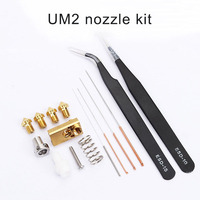 New Hot 1 Set Nozzle Cleaning Needle Kit Drill Bit Tweezer Hotend Filament for Ultimaker2 3D Printer