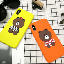 Fashion Cute Anime Cartoon Bear Phone Cover Case For Iphone X 1 0 8 7 6 6s Plus Beautiful 3d Soft Silicone Cases Coque Fundas