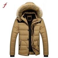 2017 Yeni Erkekler Sıcak ceketler Kış Kalın Ceket Artı Kürk Kapüşonlu Ceket Ceket Giyim Artı Boyutu M-3XL Rahat uzun