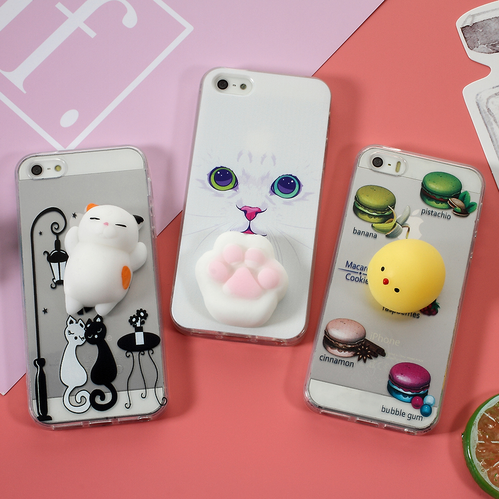 Cover iphone 5 squishy - Dulcii Squishy Case For Iphone 5 5s Se Cases 3d Silicone Kneading Cat Cover Tpu Mobile
