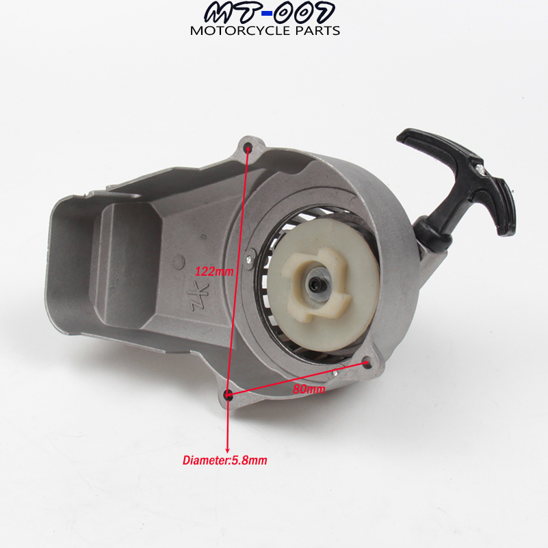 Minimoto Easy Recoil Pull Starter For 2 Stroke 47cc 49cc Engine Pocket Bike Mini Moto Dirt Bike Crosser Kids ATV Quad 44mm cylinder piston spark plug gasket big bore kit for 47cc 49cc 2 stroke mini dirt bike mini atv quad pocket bikes mini moto