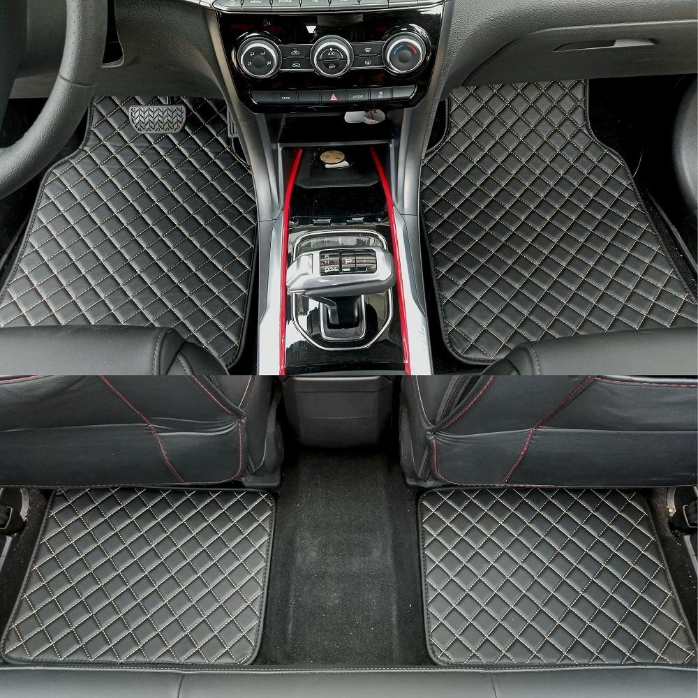 ZHAOYANHUA Universale tappetini auto per tutti i modelli Skoda Superb Yeti Fabia Rapid spaceback Car styling