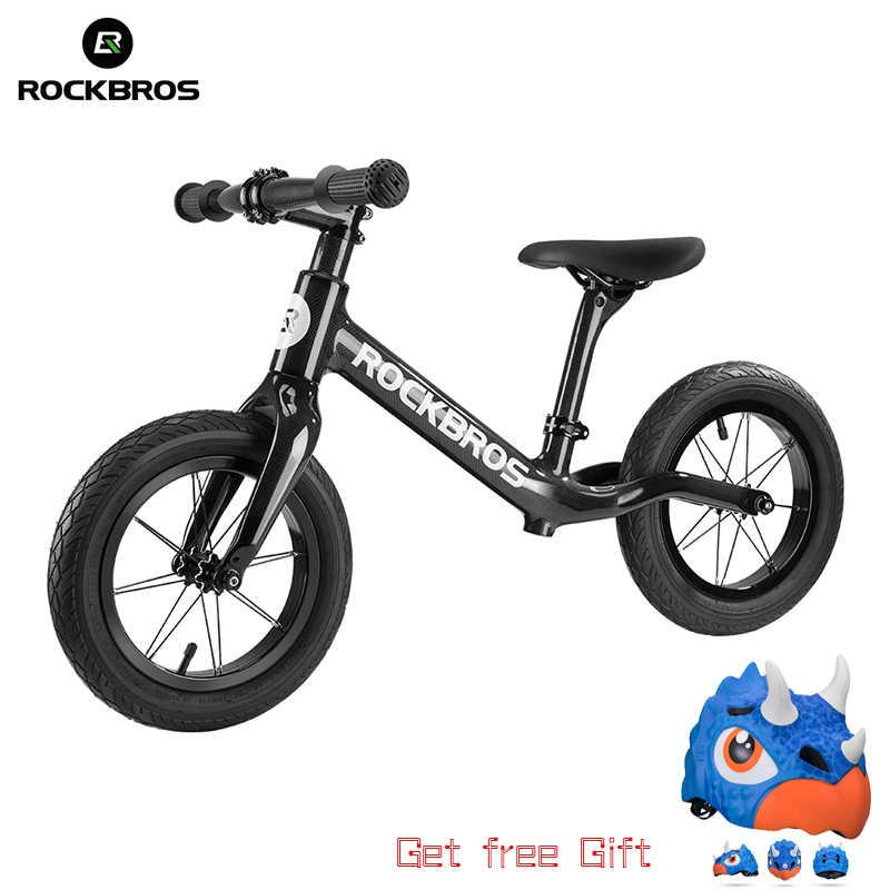 ROCKBROS จักรยานคาร์บอนไฟเบอร์สไลด์จักรยานเด็ก BALANCE จักรยาน Ultra-Light การกัดกร่อนจักรยานสำหรับ 2-6 ปีเด็ก