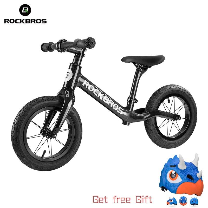 ROCKBROS vélo vélo en Fiber de carbone vélo d'équilibre enfant vélo Ultra-léger résistant à la Corrosion pour les enfants de 2-6 ans