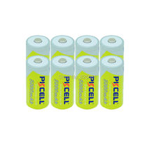 8Pcs 1.2v C Size with Capacity 5000mAh Rechargeable Battery in NIMH Chemistry, Rechargeable C Battery