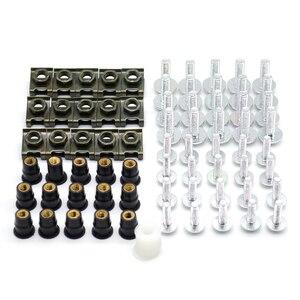 Boulons de carillon et boulon de pare-brise pour moto | Pare-brise pour SUZUKI GSX1250 F/SA/ABS GSX1400 GSX 1400 GSX650F GSX 650 F Z800