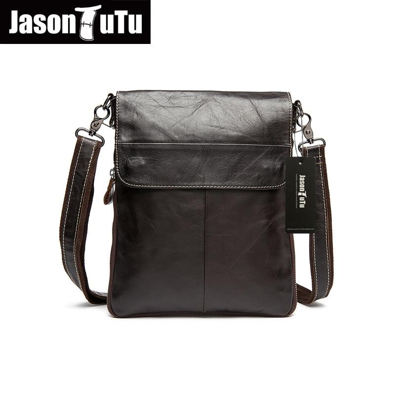 Hot!Men messenger bags High quality Soft genuine leather bag Vintage men shoulder bags luxury brands men casual briefcase HN205