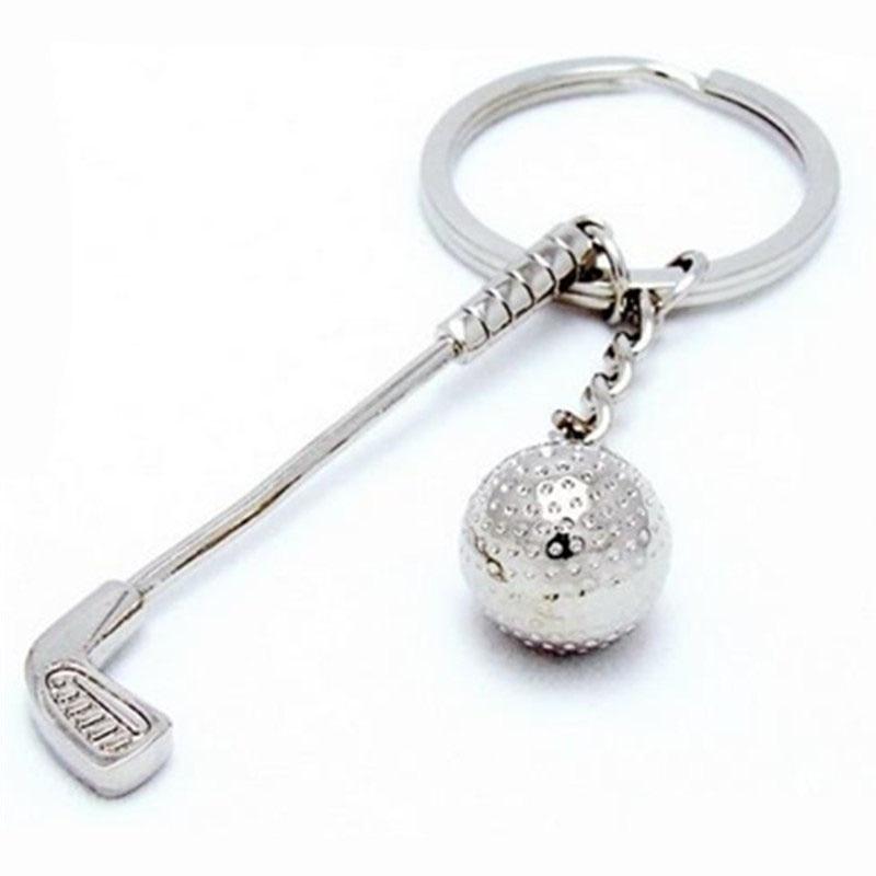 Paduan cantik kelab golf perak bola gantungan kunci untuk beg dompet - Golf - Foto 4