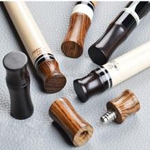 Madeira comum protetores para pino radial/3/8 10 comum piscina cue bilhar vara ébano/rosewood/bocote madeira (opcional) 1 macho + 1 fêmea