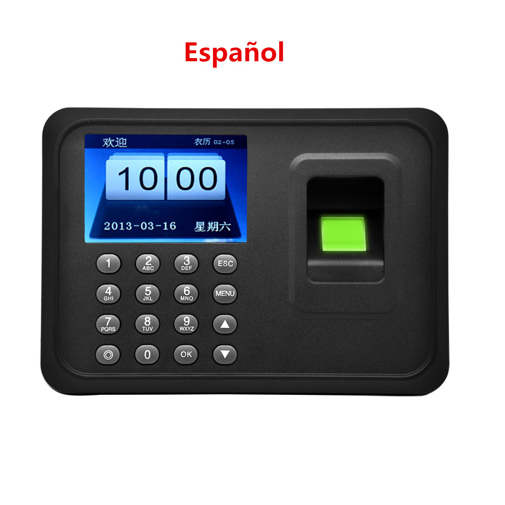 A5 Biometric Time Attendance System TCP/IP USB Time Clock Recorder Employees Device Fingerprint Time Attendance MachineA5 Biometric Time Attendance System TCP/IP USB Time Clock Recorder Employees Device Fingerprint Time Attendance Machine