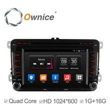 Ownice android 4.4 4 core coches reproductor de dvd para vw passat jetta polo golf GPS car multimedia radio wifi 1024*600 de la ayuda 3G DAB +