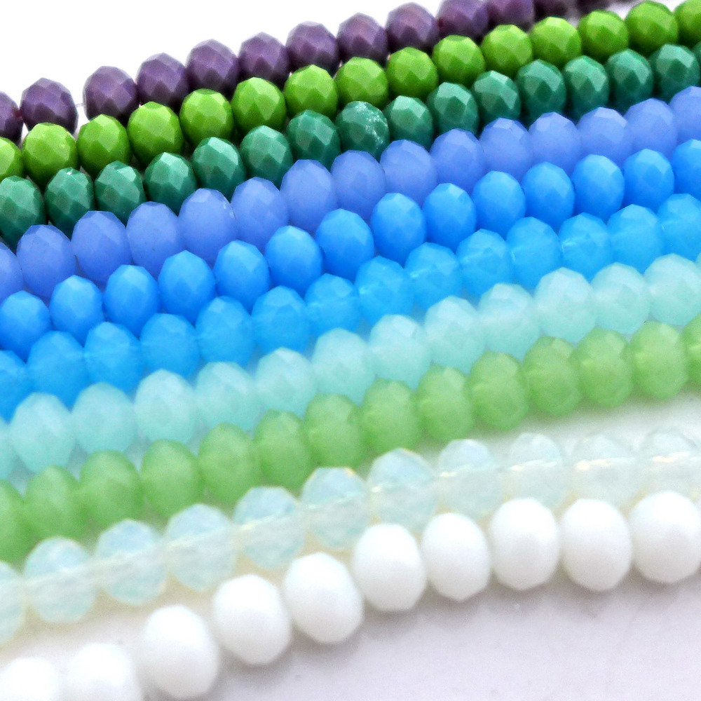 1450pcs Wholesale 27 colors 3x4mm Crystal Faceted Loose Bead AAA
