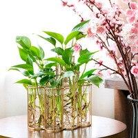 現代チューブ形状ガラスの花瓶ボトル花植物 diy ホームデコレーションテラリウム水耕緑色植物コンテナガラス花瓶