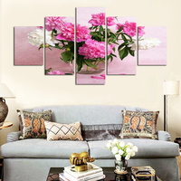 Free shipping modern selling home fosters beautiful pink white rose kitchen art wall adornment canvas painting no framed FA114