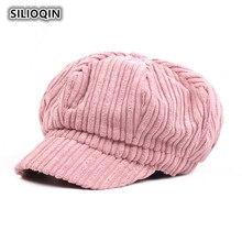 Beret-Hats Octagonal-Cap Newsboy-Hat Autumn Winter SILOQIN Gorras Casquette Artist Keep-Warm