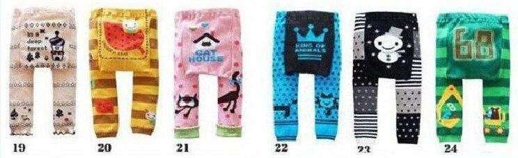 Акция, 18 шт. в партии, популярные детские штаны на подгузник, 36 цветов Штаны для мальчиков и девочек детские леггинсы - Цвет: Group D 19 to 24