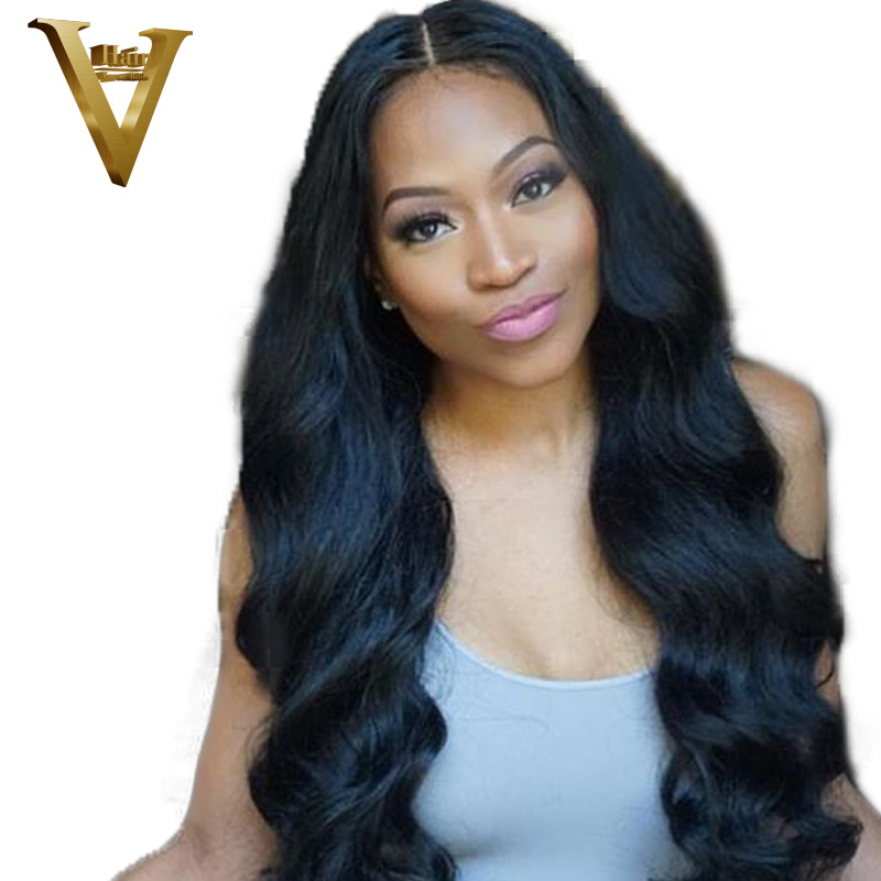 Peruvian 300 Density Human Hair Wigs With Baby Hair Body Wave Lace Front Human Hair Wigs