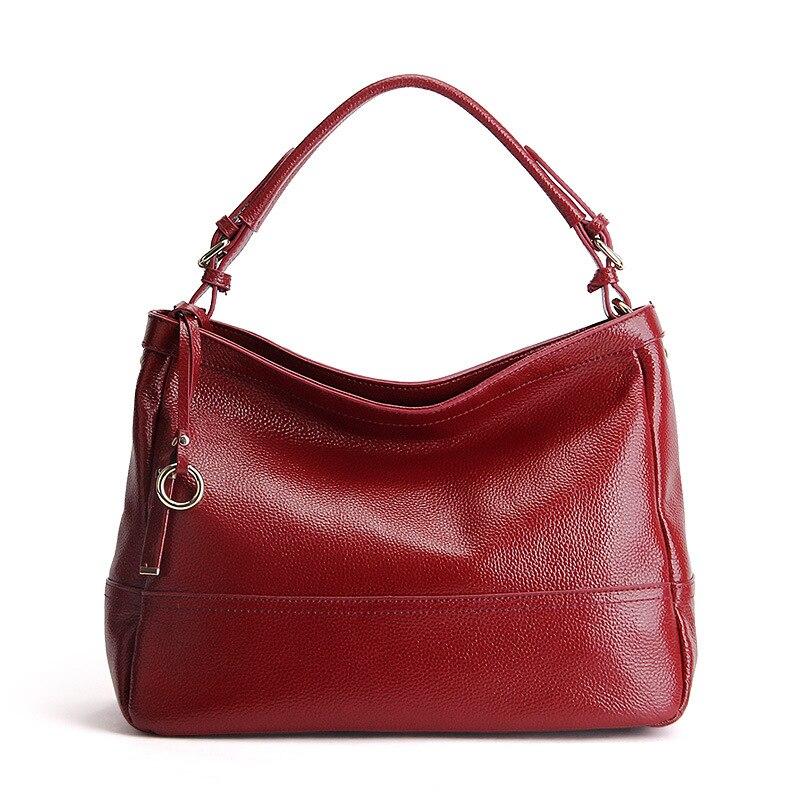 Marka nowy projektant kobiet skórzana torba Hobo prawdziwe skórzane Lichi wzór damska torebka na co dzień torba na ramię elegancka torba w Torebki na ramię od Bagaże i torby na  Grupa 1