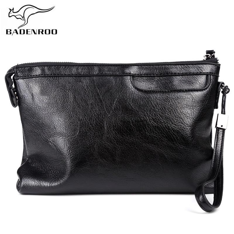 Badenroo Новая мужская сумка из мягкой кожи, деловой конверт, мужской клатч, кошелек высокого качества, удобная сумка, большие размеры, мужские н...